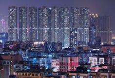 Building at night in Hong Kong Royalty Free Stock Image