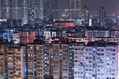 Building at night in Hong Kong Royalty Free Stock Photography