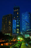 Building at night. The building of Thailand in night royalty free stock image