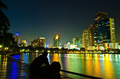 Building at night. Royalty Free Stock Photo