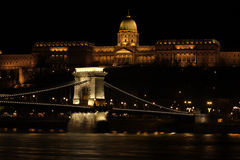 Building at the night time, Budapest Royalty Free Stock Photos