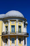 Building of the nineteenth century. House built in the classical style with columns, balconies and dome stock images