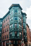 A building in the North End of Boston, Massachusetts.  stock photography