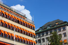 Building in the north europe royalty free stock photo