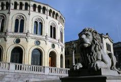 Building of Norwegian Parliament Stock Image