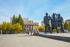 The building of the Novosibirsk state academic theatre of Opera Royalty Free Stock Photo
