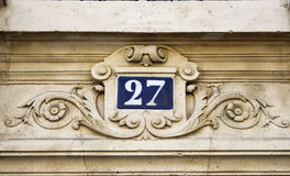 Building number 25 Royalty Free Stock Images