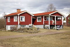 Building in Nusnas. Dalarna county. Sweden Stock Photography
