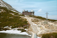 The building of observatory in Slovakian mountains Royalty Free Stock Images