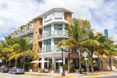 Building in Ocean Drive. Miami Beach Stock Image