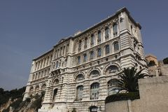 Building of Oceanographic Museum in Monaco Stock Photography