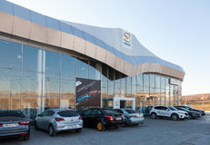 Building of official dealer Mazda Stock Photography