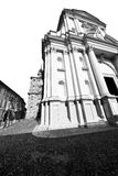 Building old architecture in italy europe milan religion       a Royalty Free Stock Image
