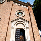 Building old architecture in italy europe milan religion       a Royalty Free Stock Photos