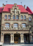 The building is an old firehouse in Lviv Stock Photography