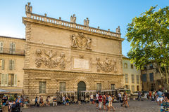 Building of Old Mint in Avignon Stock Images