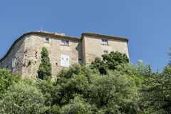Building in an old mountain village in southern Europe Stock Photography