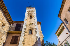 Building With Old Tower-Tourtour,France,Europe Stock Images