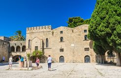 Building in the old town. Rhodes. Greece Royalty Free Stock Photo