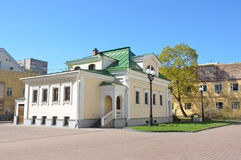The building is one of the faculties of St. Tikhon's Orthodox humanitarian University in Moscow Stock Images