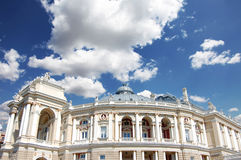 Building of an opera. Exterior opera theatre. Odes Stock Photos