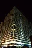 Building of original design in Astana, at night Stock Photos