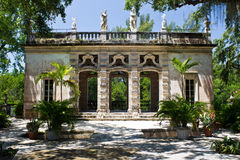 Building in an ornamental garden Royalty Free Stock Images