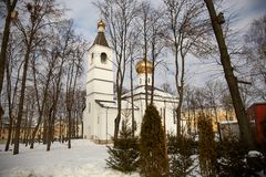 The building of the Orthodox Church. 2017 royalty free stock images