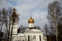 The building of the Orthodox Church. 2017 royalty free stock photos