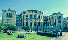 Building in Oslo, Norway royalty free stock photography