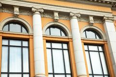 Building in Oslo. Old building windows in Oslo, Norway Stock Photography