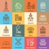 Building outline design Stock Photography