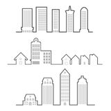 Building outline Stock Photo