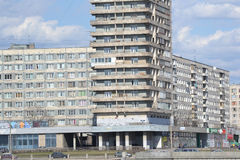 Building on the outskirts of St. Petersburg. Royalty Free Stock Photos