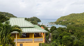 Building Overlooking Marigot Bay Stock Photography