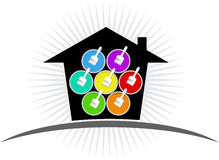 Building paint logo. Illustration art of a building paint logo with isolated background Royalty Free Stock Photos
