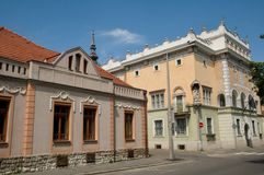 Building   with painted facade in Miskolc Royalty Free Stock Photos