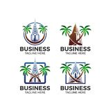 Building palm vector logo Royalty Free Stock Image
