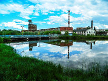 The building of the paper factory in the Russian city of Kondrovo of the Kaluga region. Royalty Free Stock Photography
