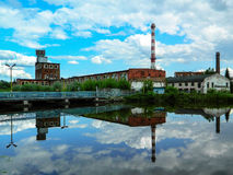 The building of the paper factory in the Russian city of Kondrovo of the Kaluga region. Stock Photography
