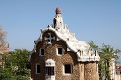The building in Park Guell in Barcelona Stock Photography