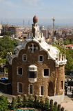 Building in Park Guell, Barcelona. Building in Antoni Gaudis Parc Guell, Barcelona Spain Stock Photography