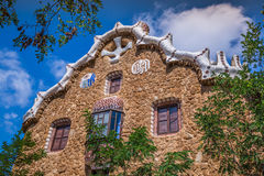 Building in Park Guell Barcelona Spain Royalty Free Stock Image