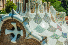 Building in Park Guell Barcelona Spain.  stock photography