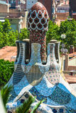 Building in Park Guell Barcelona Spain.  stock images
