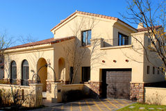 Building park scenery. Sedimentation type beautiful scenery features advanced villa Stock Photo