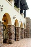 Building park scenery. Sedimentation type beautiful scenery features advanced villa Stock Images