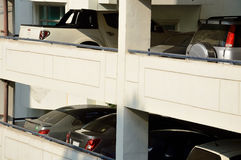 Building parking with cars Royalty Free Stock Images