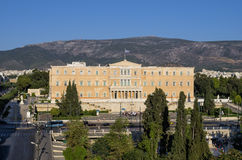 The building of the parliament, in Athens, Greece Royalty Free Stock Photo