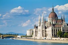 The building of the Parliament in Budapest Royalty Free Stock Image
